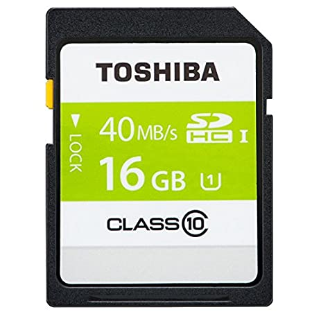 Toshiba 16 GB SD SDHC UHS-1 40MB/S Clase 10 de alta ...