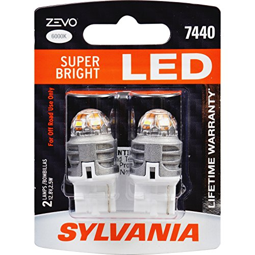 SYLVANIA ZEVO 7440 T20 White LED Bulb, (Contains 2 Bulbs)