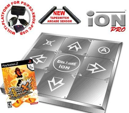Dance Dance Revolution Limited Edition iON Pro Metal Dance Pad for PS2 + Dance Dance Revolution DDR