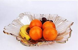 Yingsssq Plato de Fruta de Cristal Transparente Plato de Fruta de Girasol (Color : A)