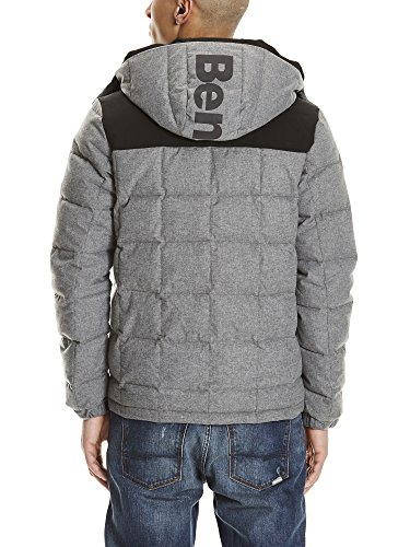Hombre Puffer Anthracite Chaqueta Ma1017 Bench Wool Marl Look Down Gris para qwnOTB1