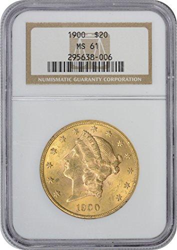 1900 Twenty Dollar Liberty Gold MS61 ()