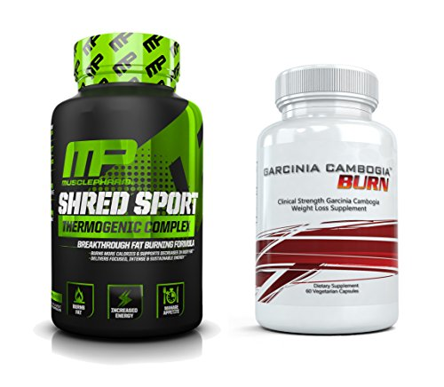 Shred Sport (60 Capsules) & Garcinia Cambogia Burn (60 Capsules) - Ultimate Fat Burning, Weight Loss Combo
