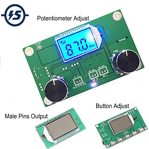 - FM Receiver Module Wireless Frequency Modulation FM Radio Module Digital Radio Receiver Board Radio Module For DIY