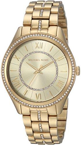 Michael Kors Women's Lauryn Quartz Watch with Stainless-Steel Strap, Gold, 18 (Model: MK3719) ()