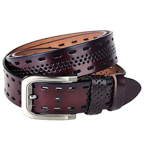 Dragon Belt,Real Leather Belts For Men,Hot leisure Designer Buckle Men's Belts q3 coffee 115cm (Agilent Short)