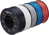 AmazonBasics ABS 3D Printer Filament, 1.75mm, 5 Assorted Colors, 1 kg per Spool, 5 Spools by AmazonBasics