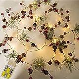 Zconmotarich 10Pcs Artificial Plant Pine Needle Branches DIY Xmas Home Garden Holiday Party Christmas Decor 10pcs