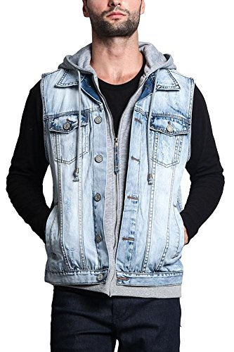 Used, Victorious Layered Hooded Denim Vest DK110 - Layered for sale  Delivered anywhere in USA