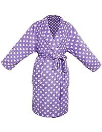 Children's Kids Ultra Soft Long-Sleeved Robe Plush Kimono Bathrobe