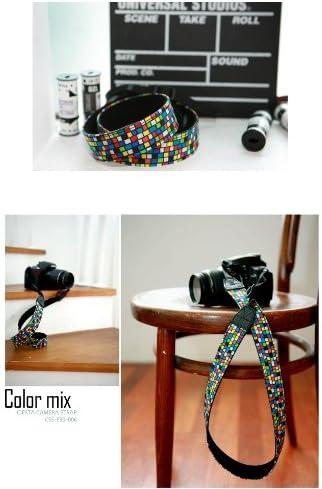 for Toy Camera DSLR Mirrorless Camera Ciesta CSS-F30-006 Fabric Camera Strap Color mix