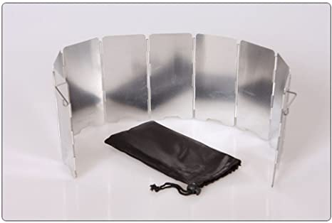 Shina 9 Placas de estufa plegable acampar al aire libre Cocina de gas Parabrisas Pantalla,