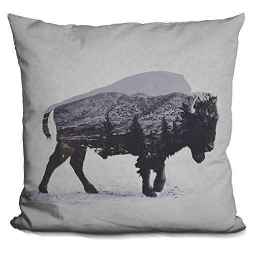 Price comparison product image 'The American Bison' Throw Pillow