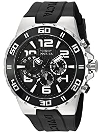 Invicta Men's 'Pro Diver' Quartz Stainless Steel and Polyurethane Casual Watch, Color:Black (Model: 24668)
