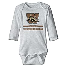Girls Western Michigan Broncos 100% Cotton Climbing Clothes White
