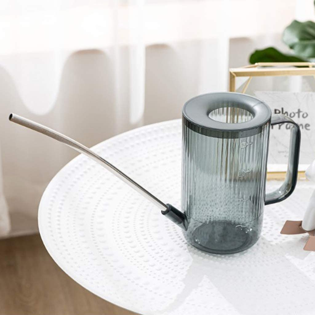 Flameer Vintage Watering Can Long Spout 1 Litre Watering Can//Easy to Water Flower Plant Brown