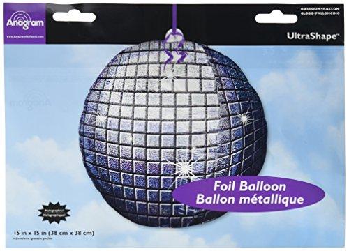 (Anagram International 1803101 Disco Ball Shape Foil Pack, 15