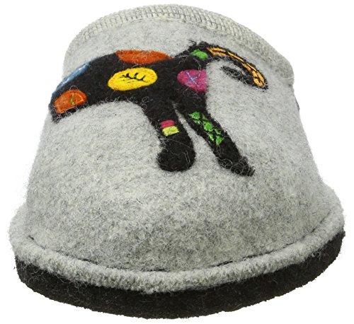 Haflinger Flair Sassy - Pantuflas Unisex adulto Grau (Steingraumeliert)