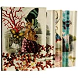 Christian Lacroix Les Modes Parisiennes Boxed Notebook Set, 4 Notebooks per Set, 60 Pages per Book, 2 Ruled and 2 Unruled Books per Set, 4.38 x 6.31 Inches, Multicolored (19359)