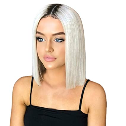 Amazon.com   aliveGOT Ombre Blonde Short Bob Straight Synthetic Hair ... be90ebaf1