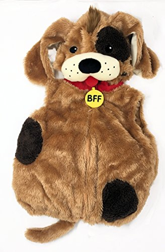 Dream Play Imagine Furry Animal Plush Deluxe Costume (6-9 months, Brown Dog) (Baby Costumes Dog)