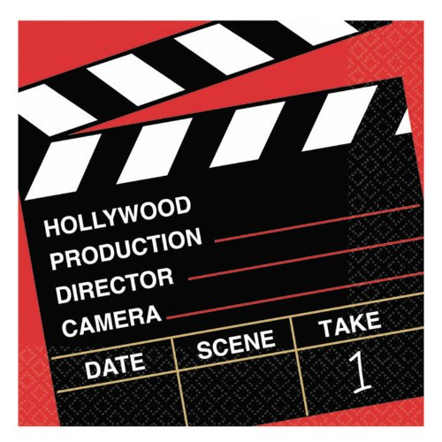 Movie Night Beverage Napkins - Director's Cut Hollywood Beverage Napkins Party Accessory