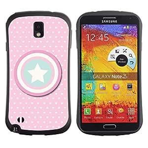 Suave TPU Caso Carcasa de Caucho Funda para Samsung Note 3 N9000 N9002 N9005 / captain polka dot America shield star / STRONG