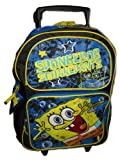 Spongebob Squarepants LARGE Rolling Wheels Backpack Bag Tote