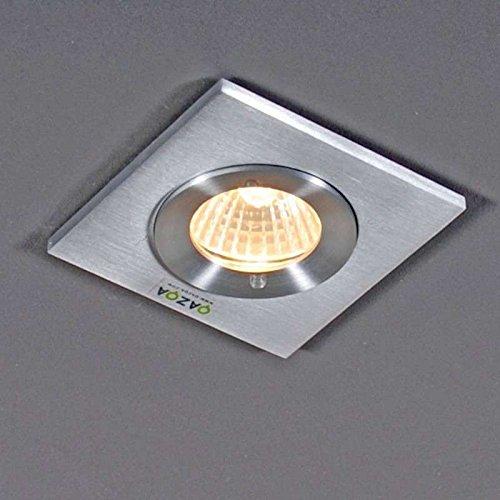 Charmant QAZQA Modern Bad/Badezimmer Außen Einbauleuchte Xena Square/Außenbeleuchtung/Wohnzimmerlampe/Schlafzimmer/Küche  Aluminium Quadratisch LED Geeignet GU10 Max.