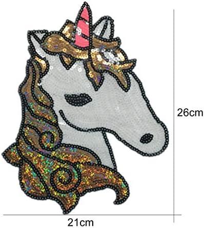 IHomiki - Unicornio de Dibujos Animados Bordados, para Coser ...