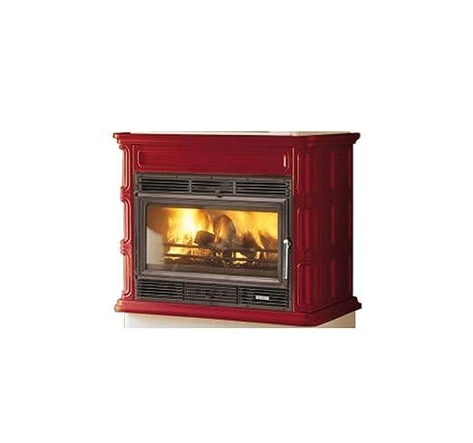 Estufa de leña. palazzetti cocina aire cocina 1950 16,2 kw ...