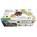 Tobo Track 22 - Mega Pack. The smartest fun track for your kids - BRAIN TOY AWARD WINNER connects directly to Thomas, Brio, LEGO and other Best Sellers - Toddler Safe Eco Friendly Wood - Made in USA.