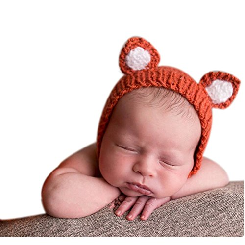 [Cute Newborn Boy Girl Baby Costume Outfits Photography Props Little Fox Hat] (Baby Fox Costumes For Infants)