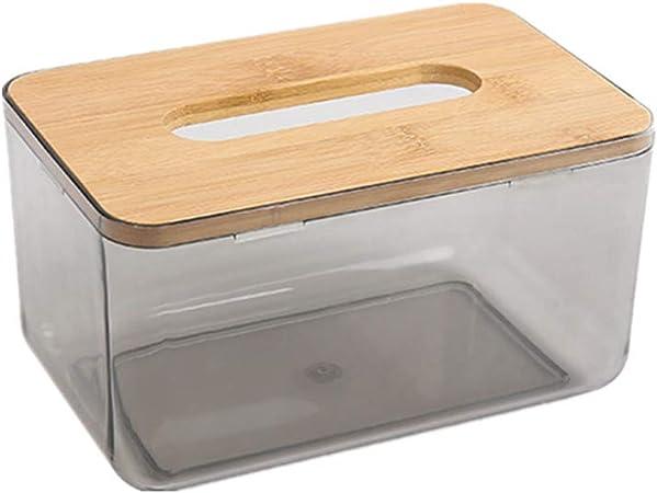 XD E-commerce Cajas para pañuelos de Papel Caja para pañuelos de Papel De Madera de la Caja del Tejido Caja de pañuelos Cubre Cubo Cajas de pañuelos m: Amazon.es: Hogar