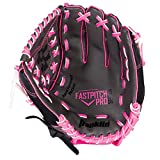 Franklin Sports Fast Pitch Series Right-Handed Fielding Glove, Gray/Black/Pink, 12-Inch