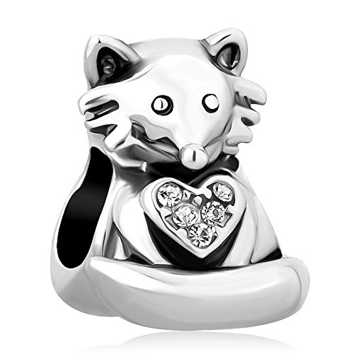 Third Time Charm Cute Fox Charm Animal Beads For Charm Bracelets