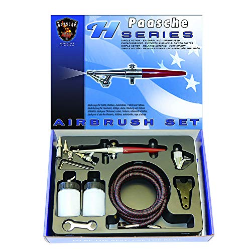 Feed Airbrush Kit (Paasche H-Set Single Action Siphon Feed Airbrush Set)