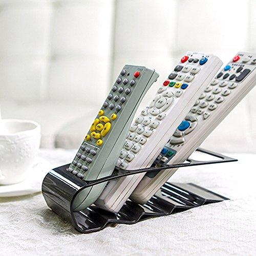 リモートコントロール 収納 ホーム 実用品 実用 エアコン テレビ 4個収納 ブラック