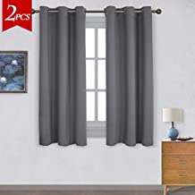 NICETOWN Thermal Insulated Grommet Blackout Curtains for Bedroom (2 Panels, W42 x L63 -Inch,Grey)