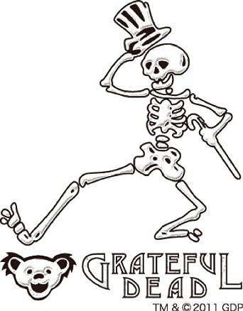 grateful dead dancing skeleton makie cell phone sticker white - Grateful Dead Coloring Book