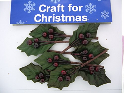 Holly Berries Burgundy Christmas Card Making 8 Pieces