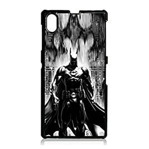 Official Custom Batman Hard Plastic Protect Case with Action Comics Anime Snap on Sony Xperia Z1