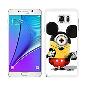 FUNDA CARCASA PARA SAMSUNG GALAXY NOTE 5 DISEÑO MINION MICKEY BORDE BLANCO
