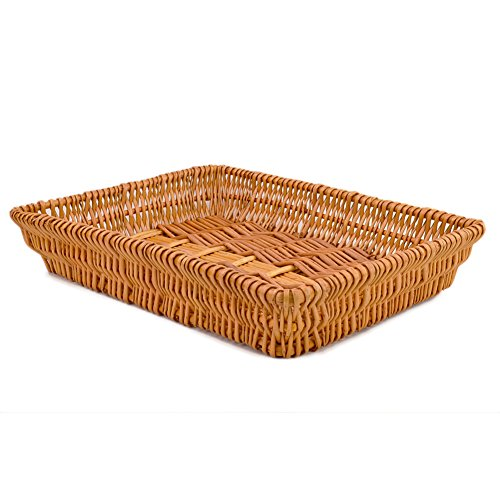 Rurality Rectangular Wicker Storage Basket for Home, Shops or Markets by Rurality (Image #1)