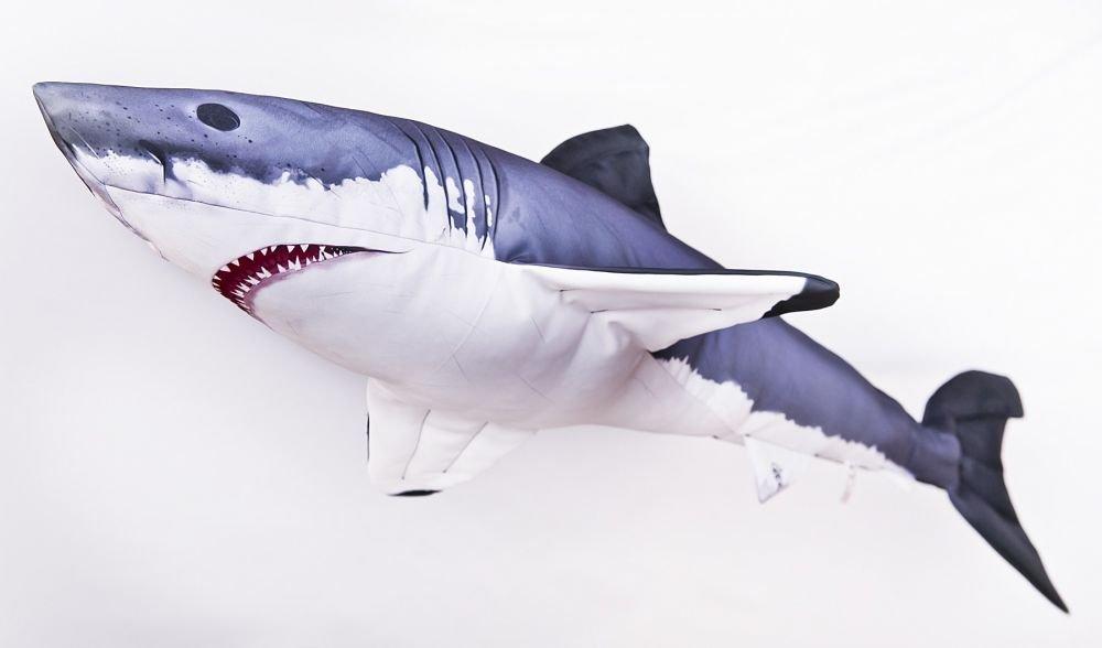 Gaby Cojín Pescado Tiburón Blanco Tiburón 120 cm Manta Peces kuscheltie Almohada Peluche