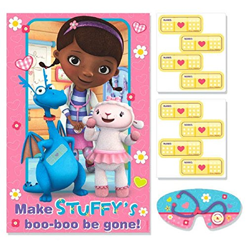 [Doc McStuffins Party Game, Pin The Band-Aid on Stuffy, Multicolored] (Toddler Stuffy Costume)