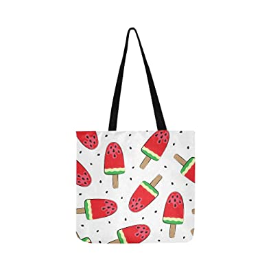 3eb41f2b75b5 Watermelon Ice-cream On A Stick Canvas Tote Handbag Shoulder ...