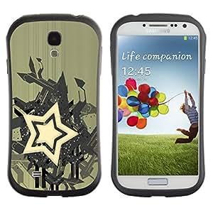 Be-Star Impreso Colorido Diseño Antichoque Caso Del iFace Primera Clase Tpu Carcasa Funda Case Cubierta Par SAMSUNG Galaxy S4 IV / i9500 / i9515 / i9505G / SGH-i337 ( Star Abstract Art )