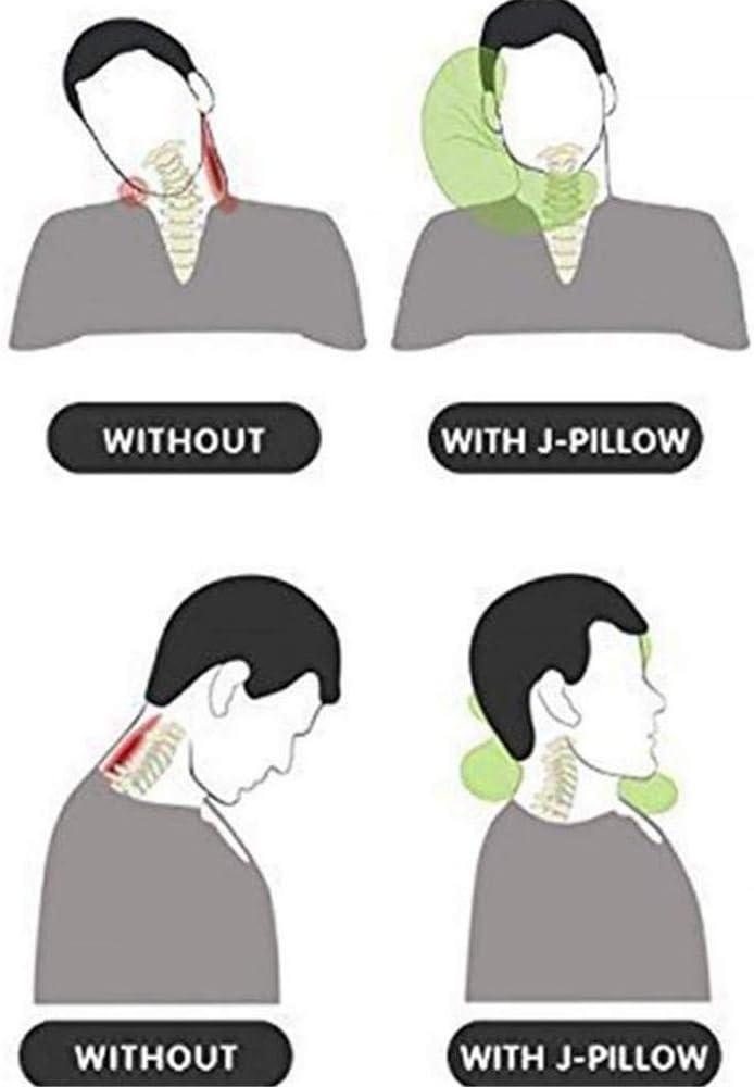 Memory Foam Travel J-Pillow Neck Descanso para el mediod/ía y hogar para Adultos Ni/ños Almohada de Cuello 3D en Forma de J de Soporte Suave la Mejor opci/ón para autom/óviles Aviones