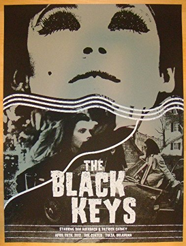 (2012 The Black Keys - Tulsa Concert Poster by Third Alert Design)